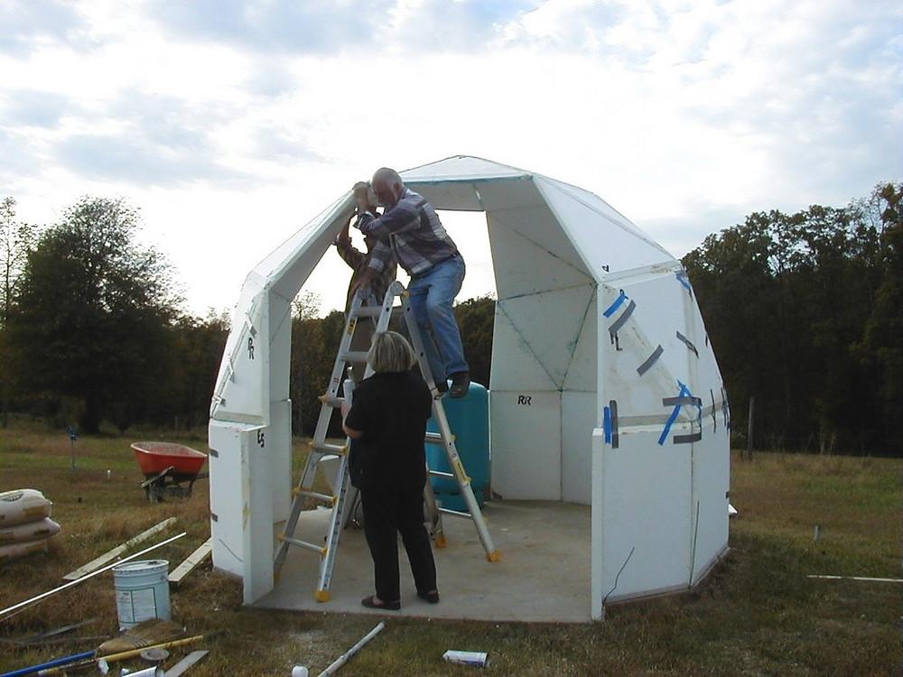 Styrofoam Dome Home