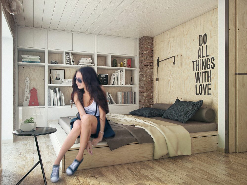 Plywood Interior for Bedroom