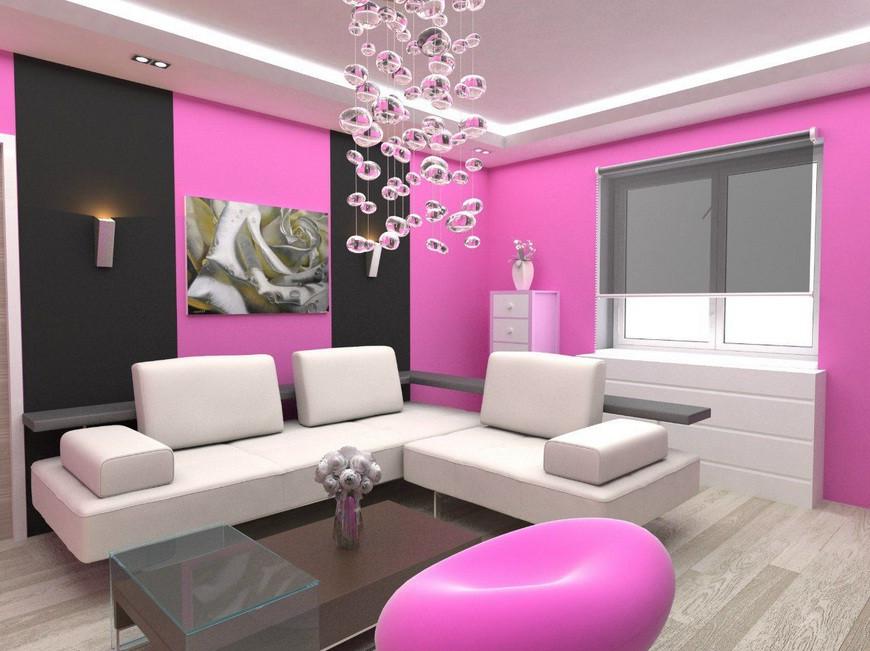 Pink Theme Living Room
