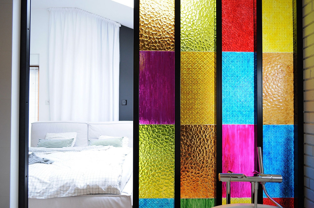 Bedroom Bathroom Stained Glass Partition Malaysia