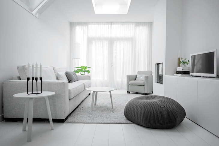 White Colour Living Room