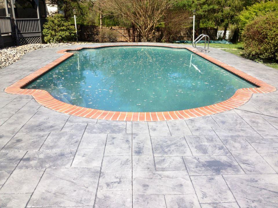 Imprint Pool Cocnrete Decking