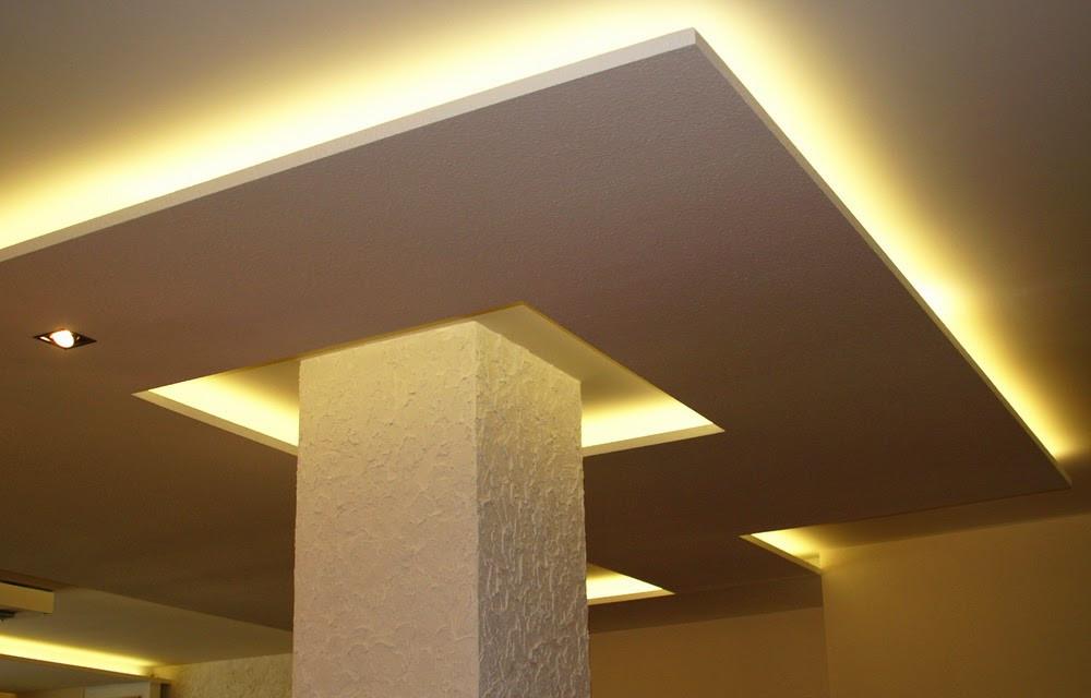 Gypsum Board False Ceiling with Column