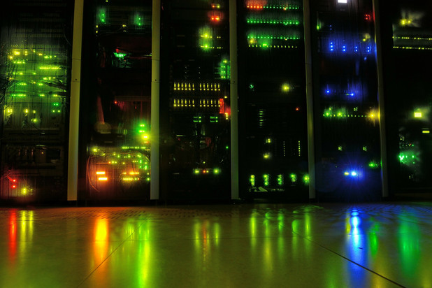 We have a specially designed server room to keep our hardware and your data safe and secure (example image only)