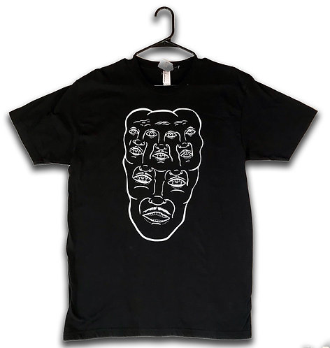Faces Tee - Black