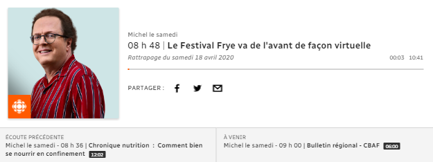 ICI PREMIÈRE | Michel le samedi