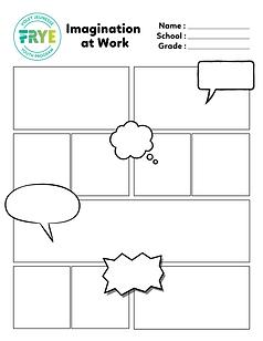 Frye Festival's Imagination at Work Comics template