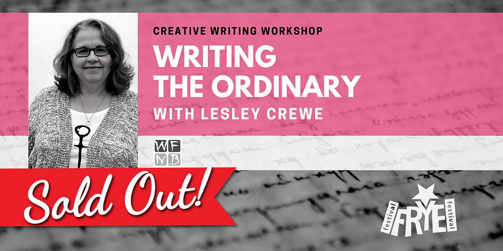 *SOLD OUT* Writing the Ordinary