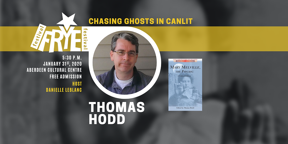 Chasing Ghosts in CanLit