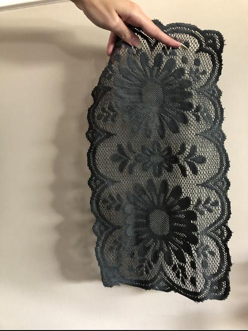 Vintage black doily