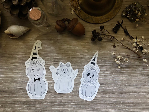 Stickers (pumpkin pals) *shipping included*