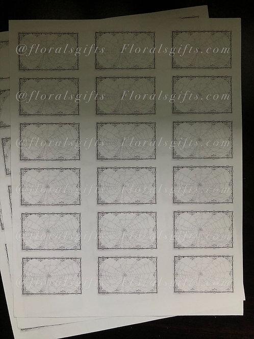 blank spiderweb labels