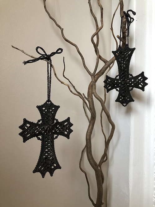 Gothic cross ornament
