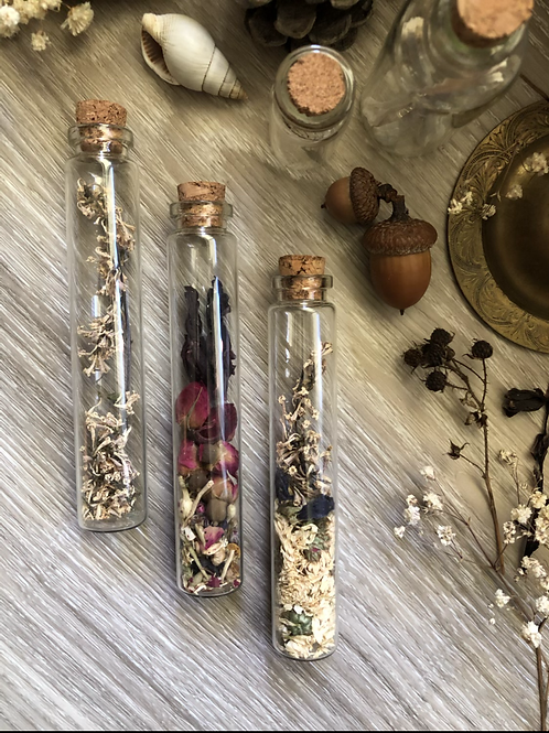 Botanical bottles (set of three)