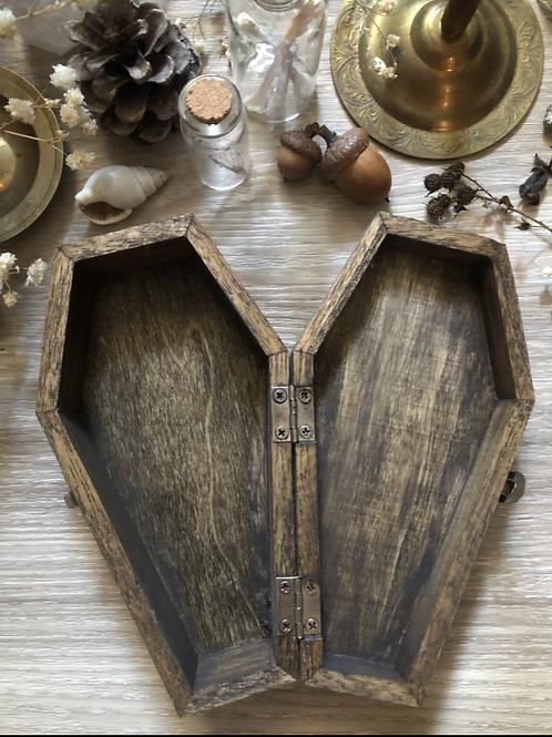 Coffin keepsake wooden box