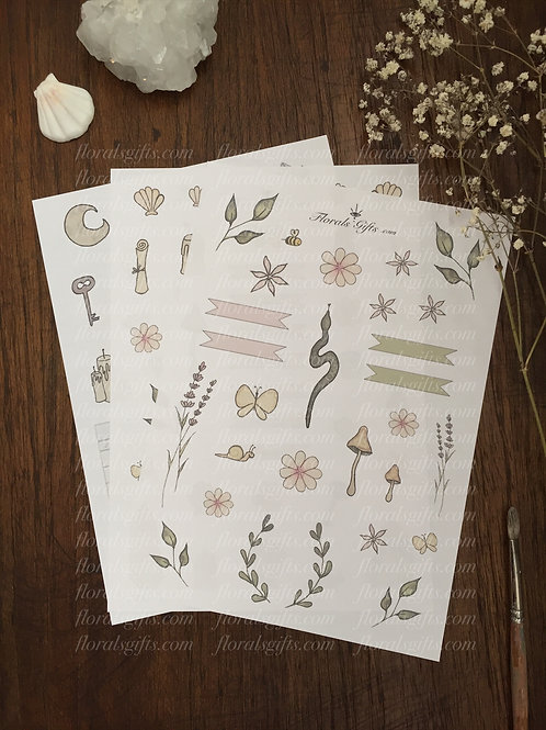 Journal printables (three pages)