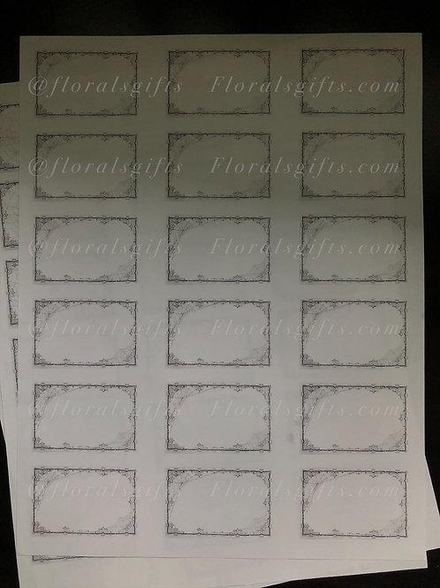 Blank spooky labels