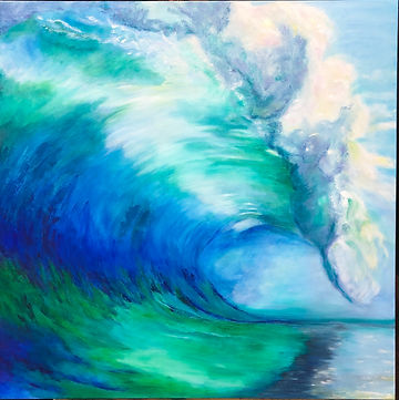 Lisa Bagnell - Big Wave.jpg large blue and green wave with spray