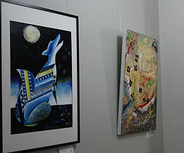 Two artworks on a wall