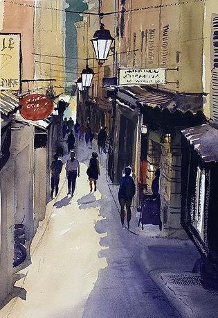 quietitalianstreet-urbanowicz-01.jpg tones of pale olive and purple