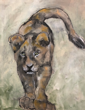 cub with attitude Rochy Miller.standing lion cum on muted backgroundpng