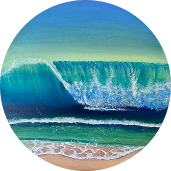 Lyn Fairlie - Wave.png blue and green wave curling towards the shore