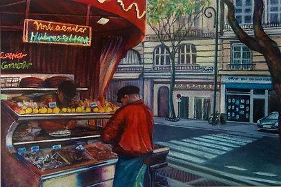 Jenny-Hooper - Vente a Emporter  Street vendor in Paris