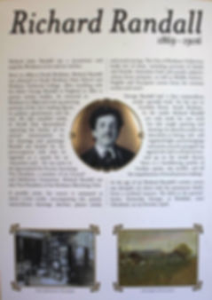 poster with text and photos of Richard Randall