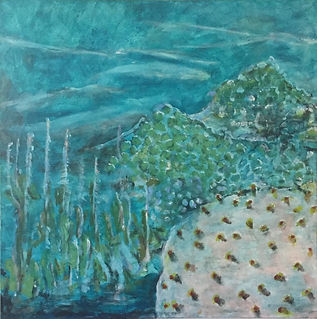 Tish Hays - Tropical Light. Blues, aqua and greens water and coral.