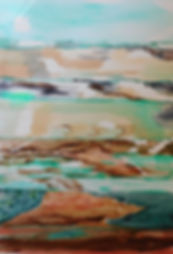 Groundscape Caloundra Julie Stirling New Media imagery Watercolour interpretation in shades of green and brown