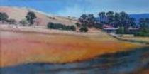 David Ladley - landscape HR.j Slopinin hill water in foeground, sky and tree in backgroundpg