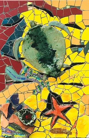 John Feagan Green turtle - Crazy tiled sea creatures