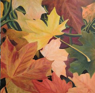 Amanda Wildie_Fallen Beauty.j Multi coloured Autumn leavespg