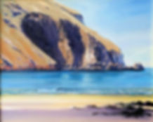 painting cliffs, sea beach copyrighted