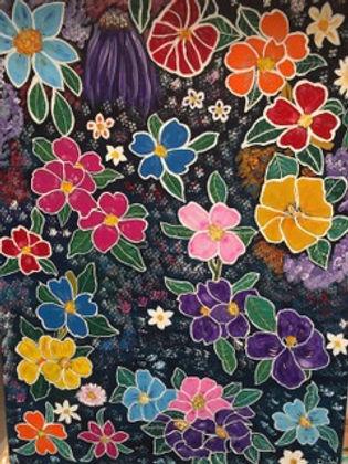 Diane Woods Floral Medley.jpeg Multi coloured flowers