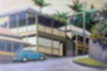 paddington streetscape original art copyrighted