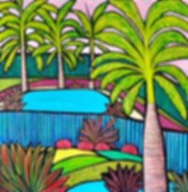 Helen Stephens  - Pool  with garden
