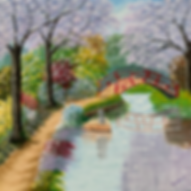 Peaceful Garden Anne S, tranquil Japanese stylr garden with arched bridge