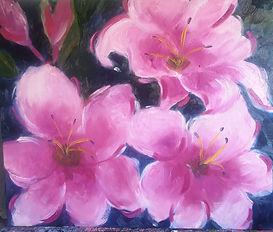 Blooms in Pink - Linda Bridges threes pink flowers.jpg