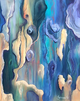 Glow-in-the-Bark-by-Jeanne-Cotter-Pastel in blues, aqua and yellows