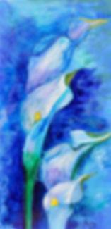Art work of midnight blue lillies