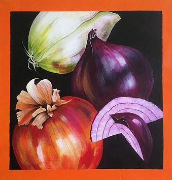 Teardrops - Christine Boulsover.jpg brown, purple and white onions