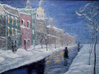 Linda Mezetti Winter scene with canal.jp