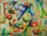 Fruit and crockery abstract