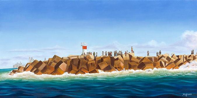 Meghana-Wagholikar__The-Spit_. Rocks,sea and sky