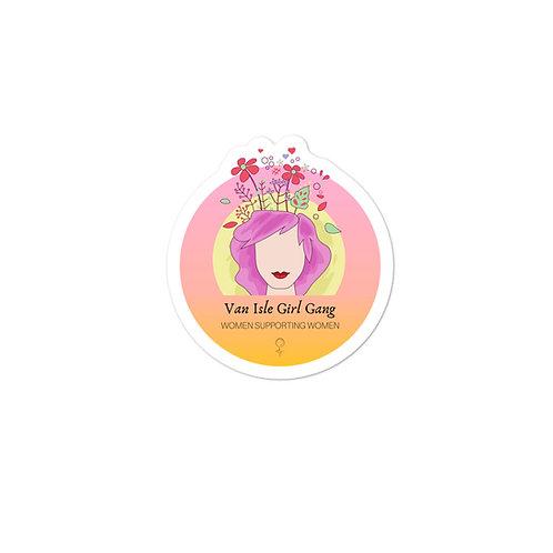 Bubble-free stickers - Van Isle Girl Gang