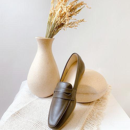 Kenni II Leather Loafers Greenish Brown