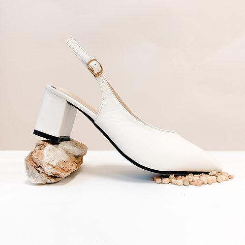 Kleo Heel II - Milky White