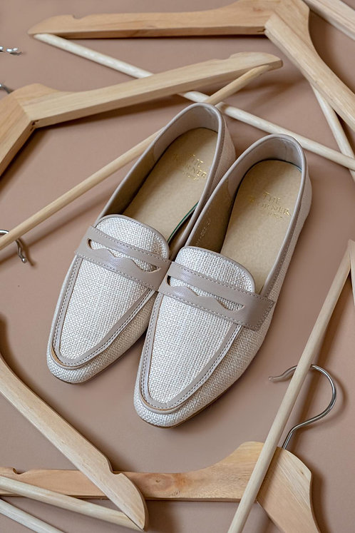 Kenni Loafers Light Beige