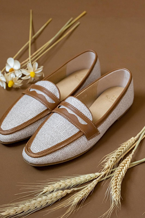 Kenni Loafers Sand Contrast